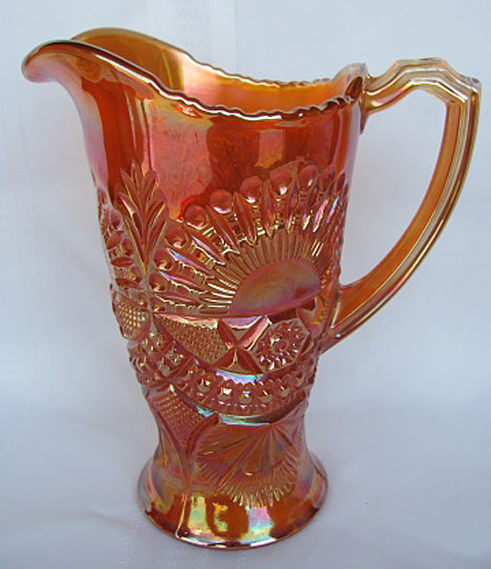 Rising Sun water pitcher, marigold