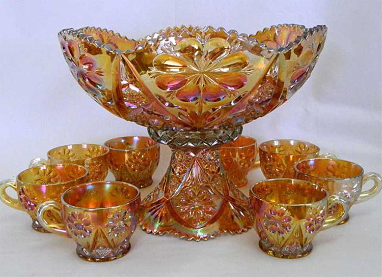 Four-Seventy-Four 10pc punch set in marigold