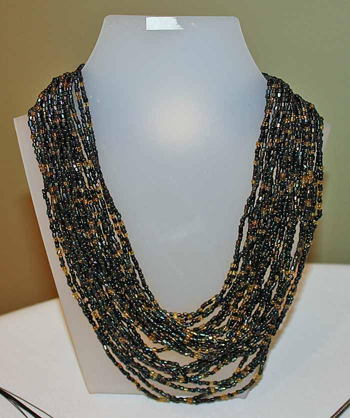 multi strand necklace