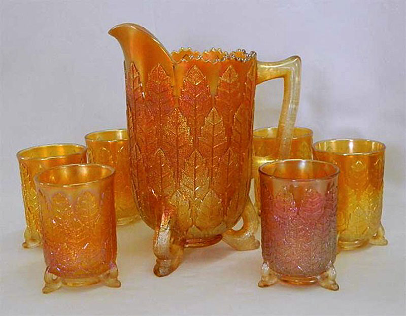 Leaf Tiers water set, marigold
