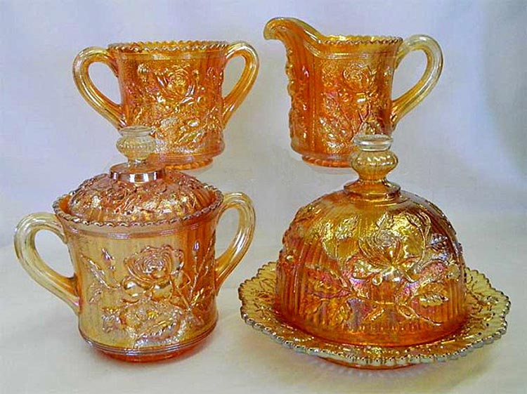 Lustre Rose 4pc table set, marigold