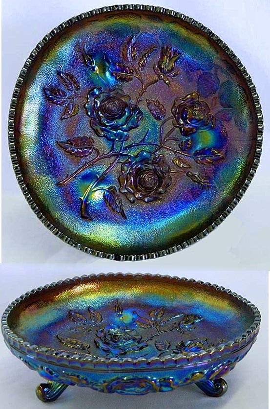 Open Rose centre piece bowl, purple