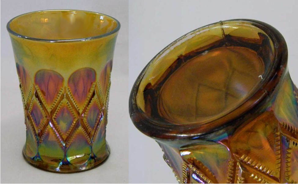Diamonds tumbler - amethyst  almost amber