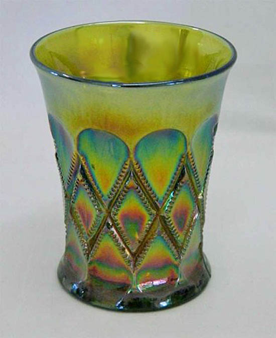 Diamonds tumbler - green