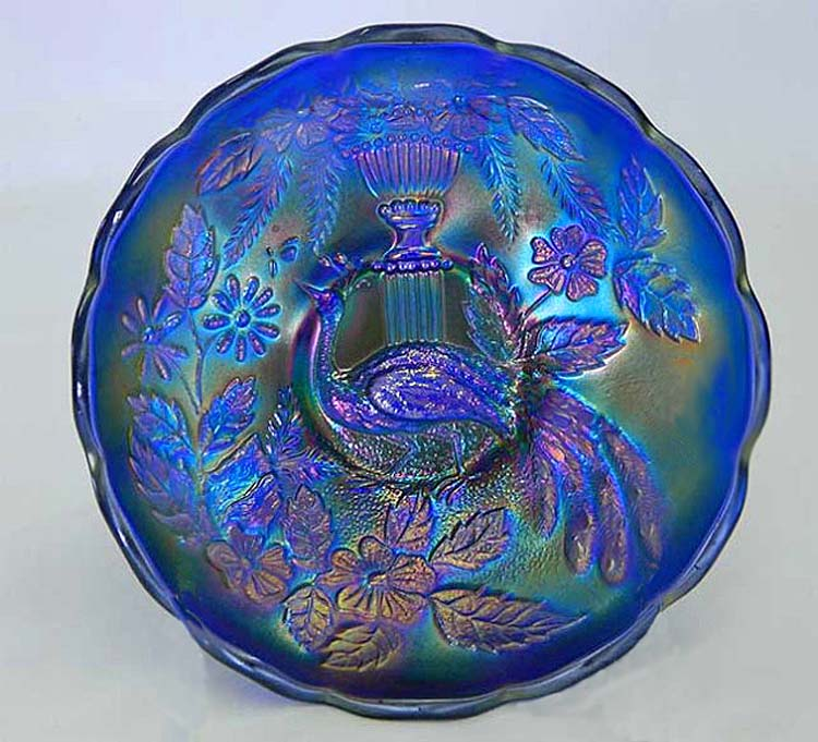 Peacock and Urn IC sauce, blue