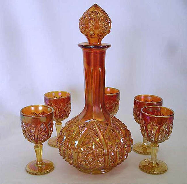 Octagon wine set, marigold
