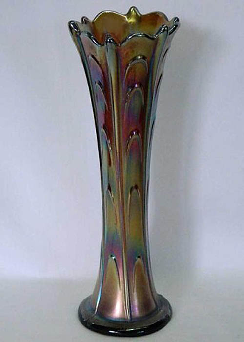 "Pulled Loop 10 1/2"" vase, purple"