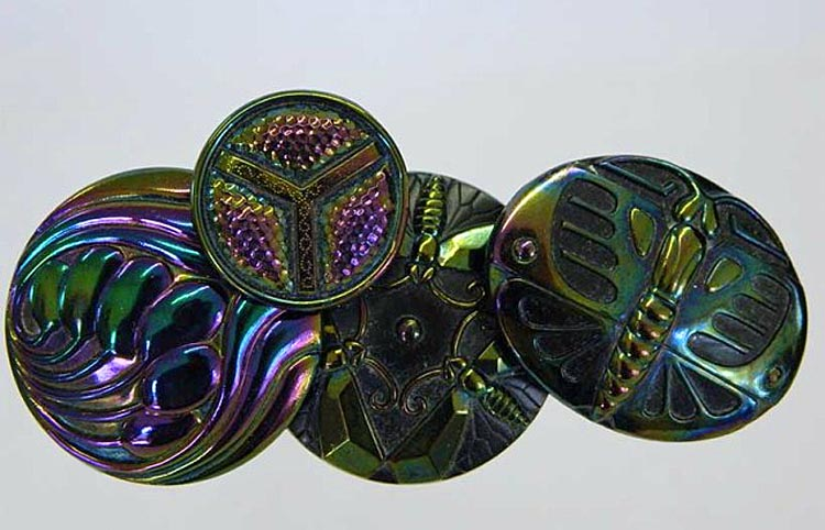 Six Plums, Triads, Butterflies, Big Butterfly hatpins