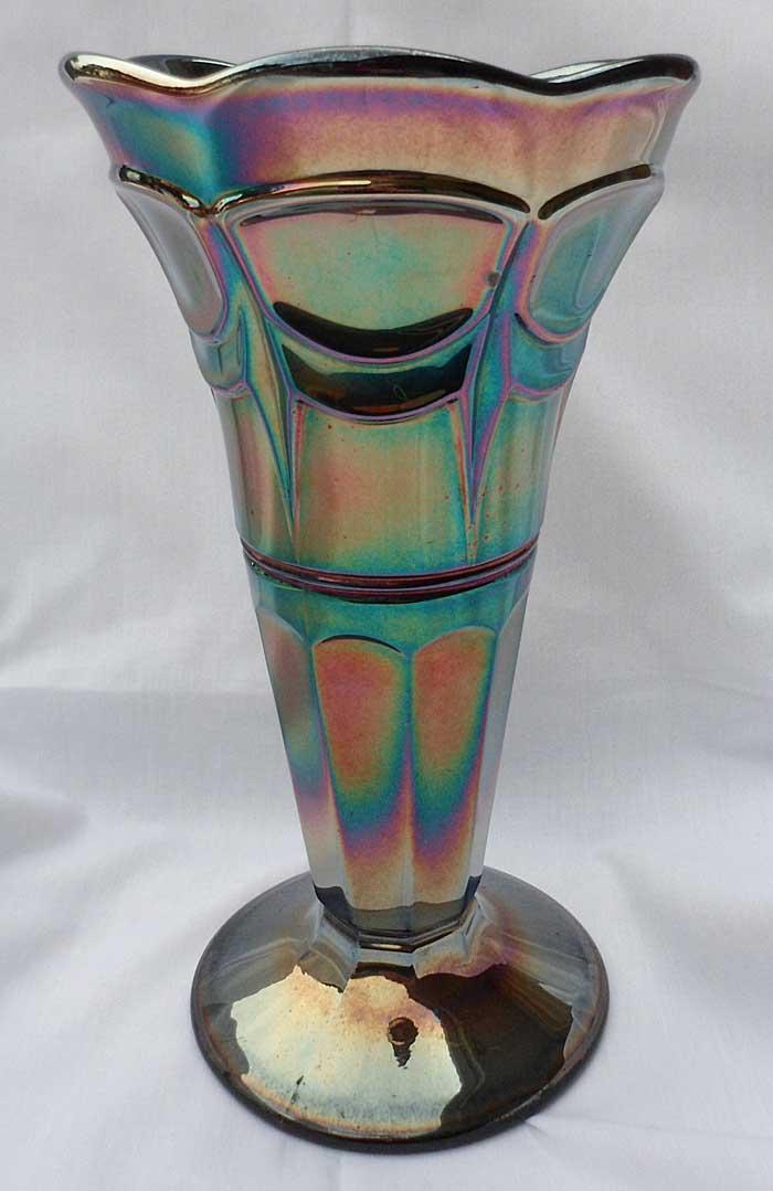 Drape vase, black amethyst, Sowerby