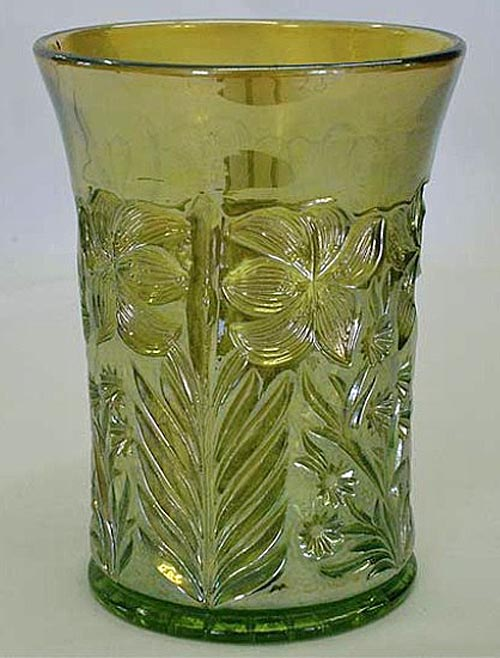 Tiger Lily tumbler in green