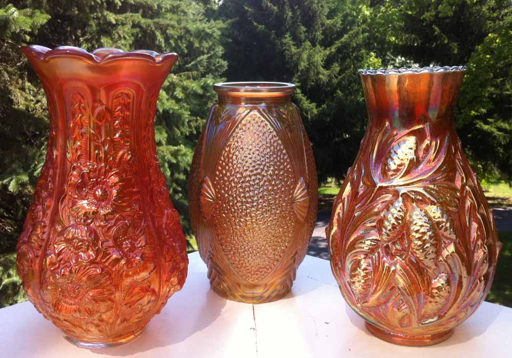 "Trio of ""large"" vases"