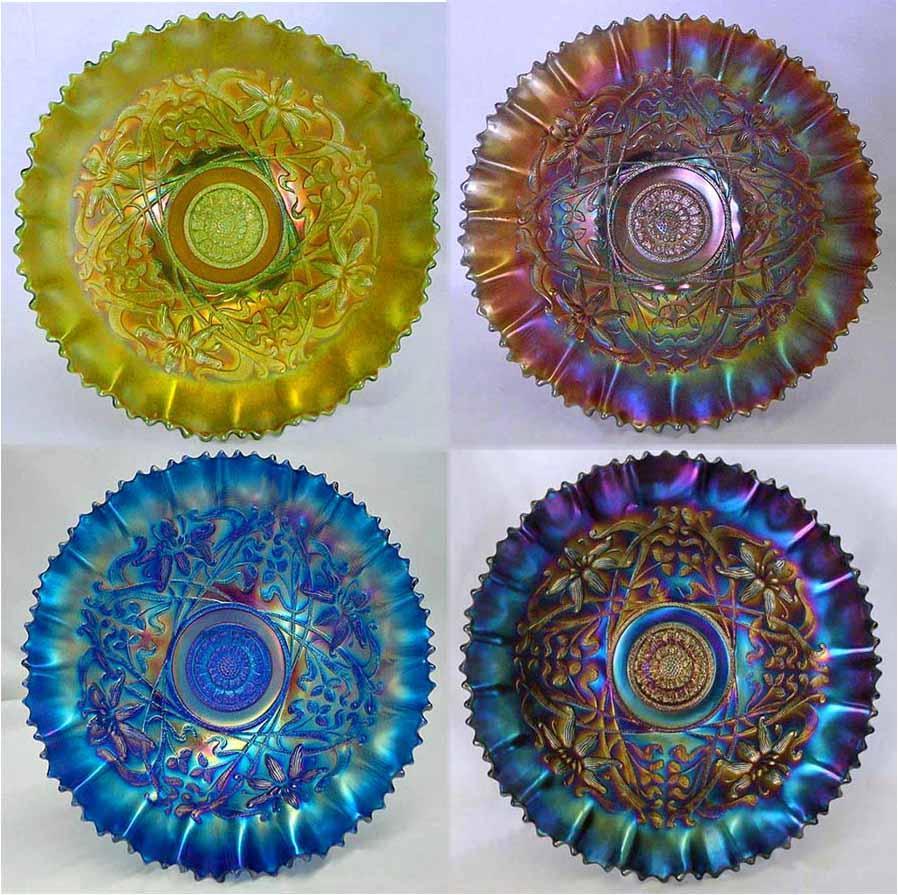 "Wishbone 10"" piecrust edge bowls"